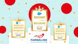 Farmaline gagne les Webshop Awards Belgium pour la troisième année consécutive